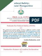 Dr. a.K. Gupta- Patient Safety