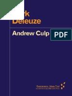 Dark Deleuze Forerunners Ideas First Culp Andrew