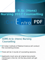 AIIMS B.sc (Hons) Nursing 2017 Counselling