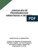 La Programacion Orientada a Objetos