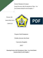 Analisis Review jurnal internasional keuangan