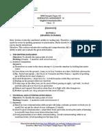 2016 10 English Communicative Sample Paper Sa2 02 Ans 1as654