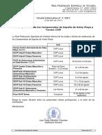 Sedes y Fechas de los Campeonatos de España de Voley Playa y Torneo CIVP