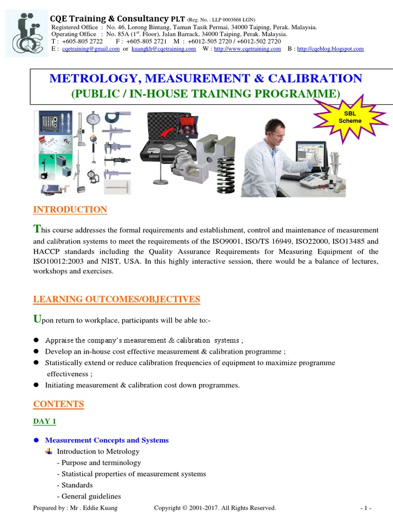 4 Metrology Measurement Amp Calibration Calibration