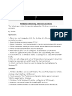 Windows Networking Interview Questions