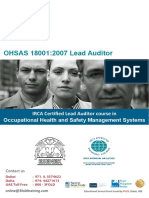 ISO OHSAS 18001 2007 Lead Auditor Course
