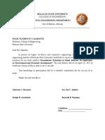Panel Letter