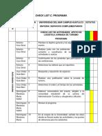 Check List y Rúbrica de Evaluación C. Programa