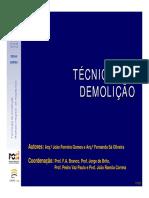 03 Técnicas de Demolição - 3ª e 4ª Aulas Teóricas - COR
