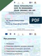 Stoica Claudia Prezentare Sesiune Doctoranzi 2015