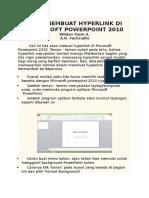 Cara Membuat Hyperlink Di Microsoft Powerpoint 2010