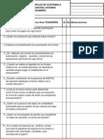 Cuestionario de Control Interno TESORERIA TODOS