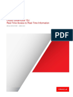 Oracle GoldenGate 12c; Real-Time Access to Real-Time Information