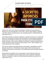4Secretos Japoneses Para Estar Enforma