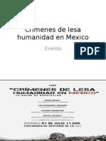 Crímenes de Lesa Humanidad en Mexico
