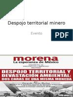 Despojo Territorial Minero