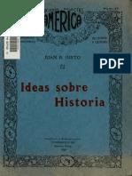 Justo, Juan B - Ideas Sobre Historia