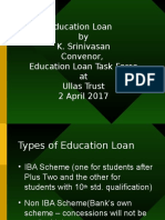 Education Loan Scheme - A bird's eye view - Presentation by Prime Point Srinivasan