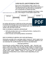Arduino and Matlab Interfacing
