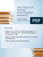2 the Field of Social Psychology Research3