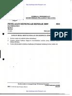 PMR 2009 Matematik k1
