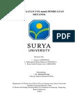 Studi Kajian Literatur Pemanfaatan CO2 untuk Pembuatan Metanol
