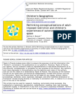 Children's Geographies Volume 11 Issue 1 2013 [Doi 10.1080%2F14733285.2013.743279] Benwell, Matthew C. -- Rethinking Conceptualisations of Adult-imposed Restriction and Children's Experiences of Auton