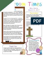 mar  31 newsletter