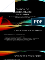 indispensability of the division of student affairs - ellington