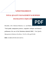 Total Quality management and business concept(TQM abd BE)