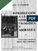 Introduccion a la literatura talmudica y midrasica