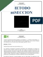 METODO BISECCION