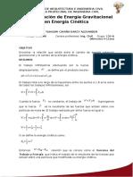 Transformación de Energía Gravitacional en Energía Cinética