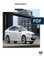 Pricelist Mondeo (1st August 2013)