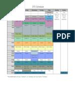 DTS Schedule