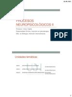 Procesos Neuropsicológicos II Clase 1-2-3-4