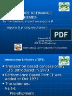 SBP's EXPORT REFINANCESCHEMES