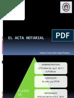El Acta Notarial