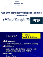 Technical Writing and Publication