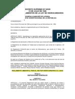 Reglamiento Ambiental Para El Sector Hidrocarburos d.s. 24335