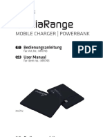 User Manual Warranty Conditions Operating- And Safety Instructions for MediaRange Powerbank - Item No.- MR743