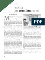 Remembering What Grandma Used