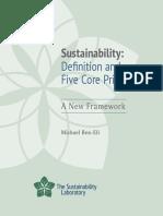 Princípios de Sustentabilidade