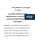 PD 541 Former Filipino Nationals Practice Profession.doc