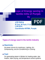 Scope of Energy Saving in Textile Industry