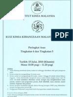 Kuiz Kimia Kebangsaan Malaysia 2010 - Peringkat Asas
