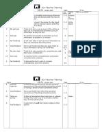 Procedure Sheet Assignment 2