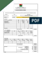 Formato Unico Para Los Analisis de Precios de Los Proyectos Del Municipio de Arauca