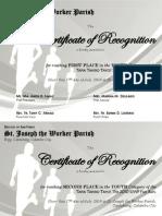 Certificate for Fun Run