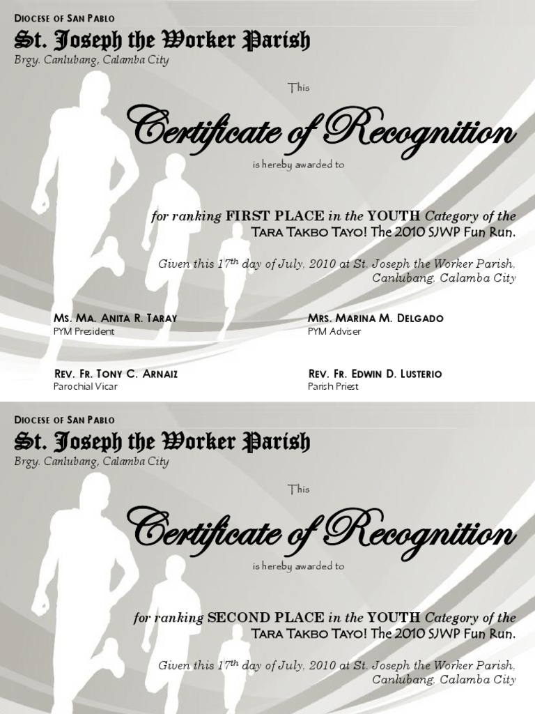 Running award certificate template images certificate design and fun run certificate template gallery templates example free download amazing soccer award template photos professional resume alramifo Gallery
